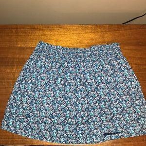 Aeropostale Blue Floral Skirt